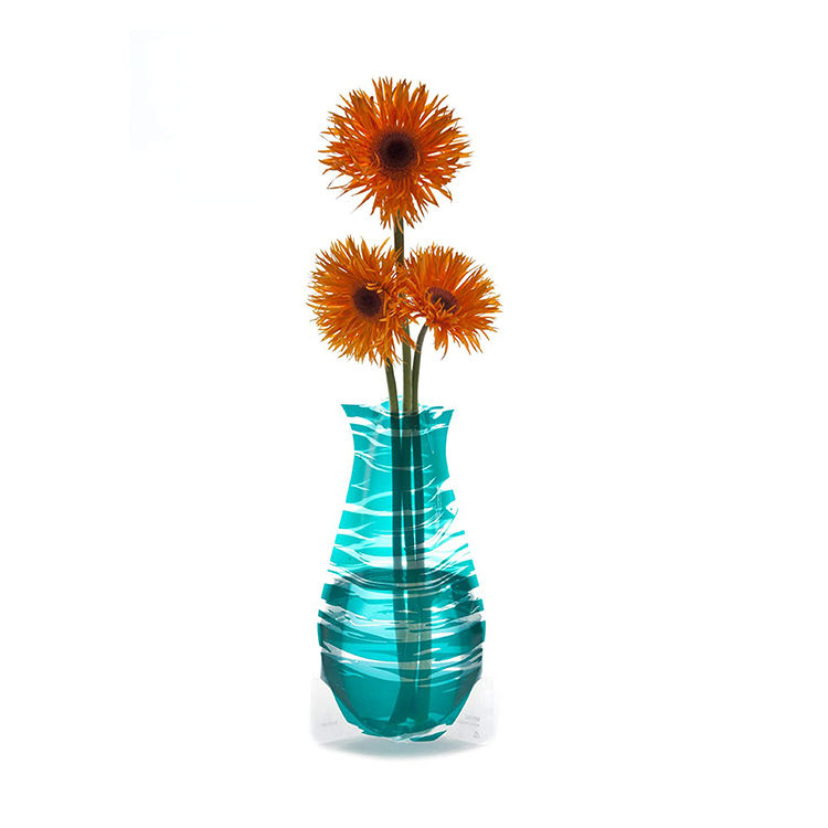 Wholesale cheap BPA free durable collapsible unbreakable plastic wedding vases