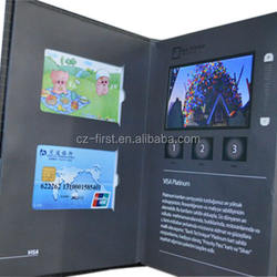 Colour LCD Screen For Video Booklets with pocket oem/odm