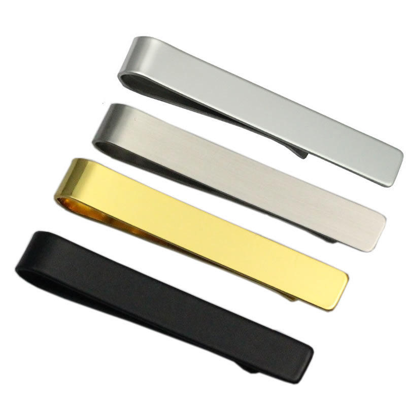 China manufacturers wholesale blank cheap gold metal custom logo men tie bar clips with packaging box