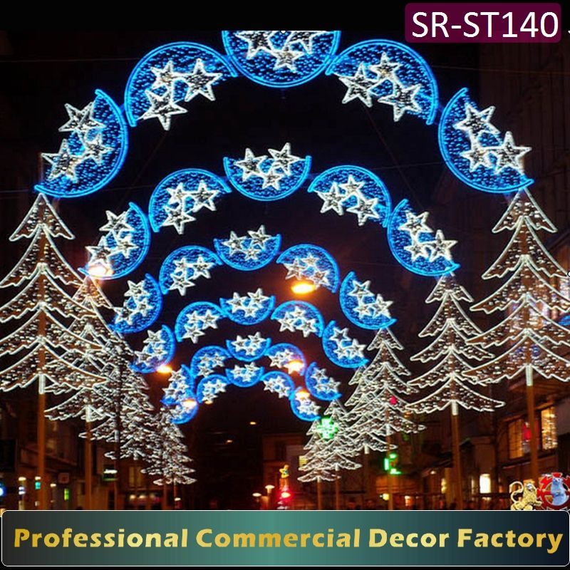 Customize commercial cross street LED lighted arch