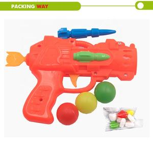 kids outdoor game ping pong ball shooting gun toy with four balls