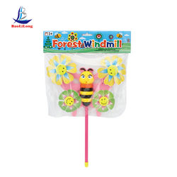 kids toys outdoor plastic toy forest animal wind mill toy plastic pinwheel happy garden toy children windmill plastic windmill