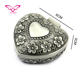Zinc Alloy Material Heart Shape Jewelry Ring Box
