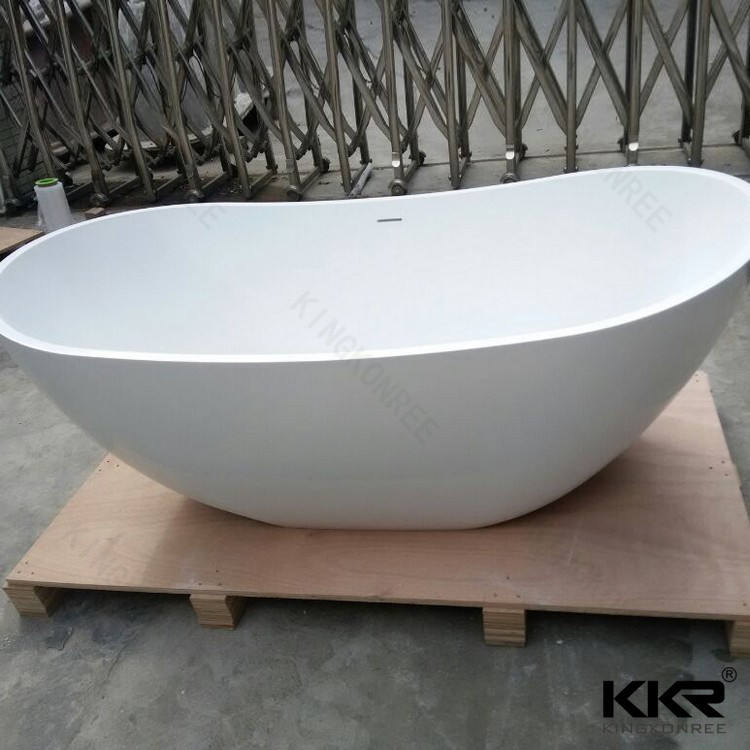 Oval Stone Tub Bathtub Oval Tub Oval Bath Egg Shaped 1600mm Resin Stone Freestanding Bathtub