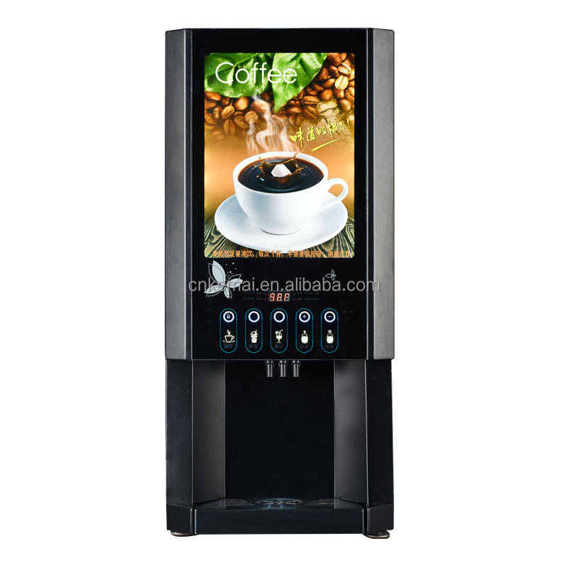 outdoor instant coffee and tea vending machine with non coin-operated function