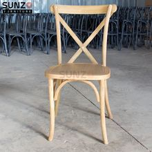 Factory Price Stackable Wood Design Dining Chairs Cross Back SZ-6101A