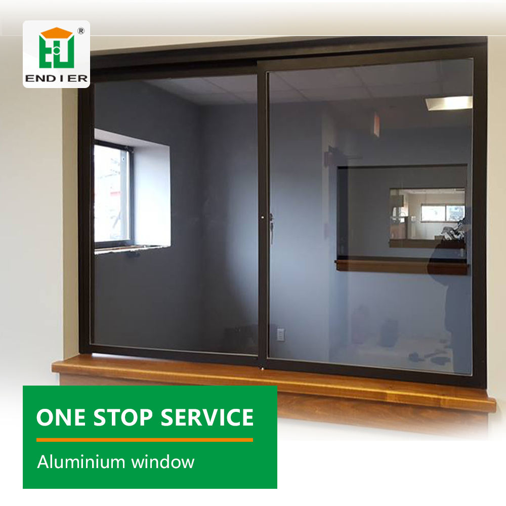 Integrated Frame Covers service reception aluminum profile frame sound proof sliding window Inward Opening Casement Window