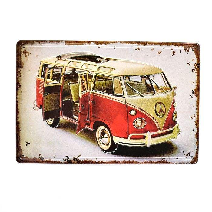 Wholesale Travelling Car 3D Vintage Embossed Metal tin Sign Retro Craft Home Bar Pub Cafe Decoration