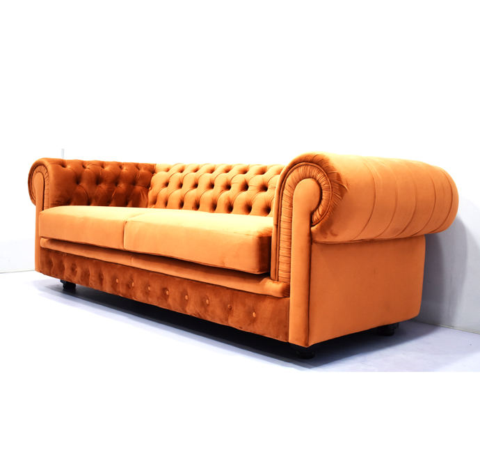 Sir william 3 seater sofa velvet Chesterfield sofa