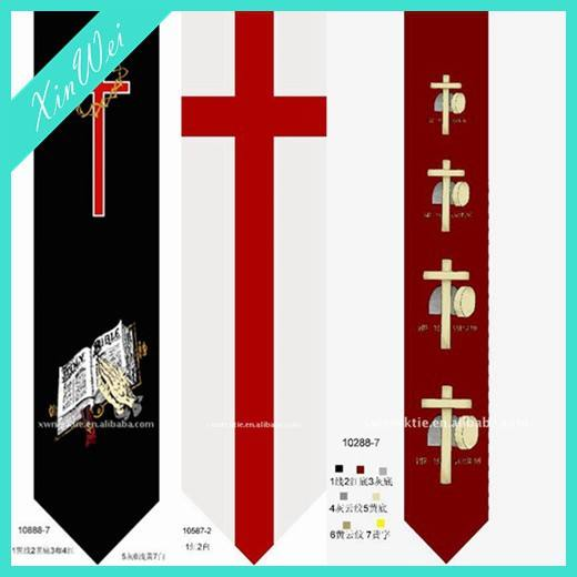Customized Printed Polyester Necktie For Christian