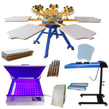 6 color 6 station roll to roll screen printing machine equipment all kits