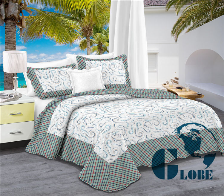 microfiber high quality quilt bedcover with pillow case