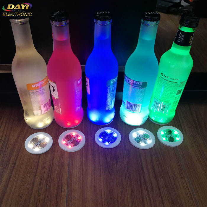 New arrivals party favor customized color light led sticker for bottle, led bottle sticker