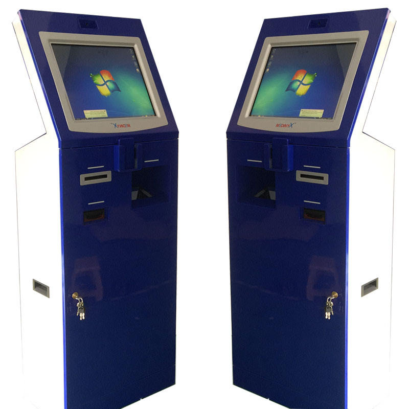 Automatic bill payment kiosk with Card Reader and cash acceptor kiosk