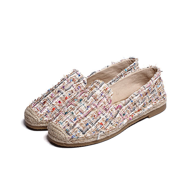Wholesale womens casual shoes canvas flat espadrilles