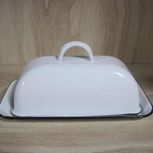 Enamel Butter Dish Butter Box Butter Holder With Lid