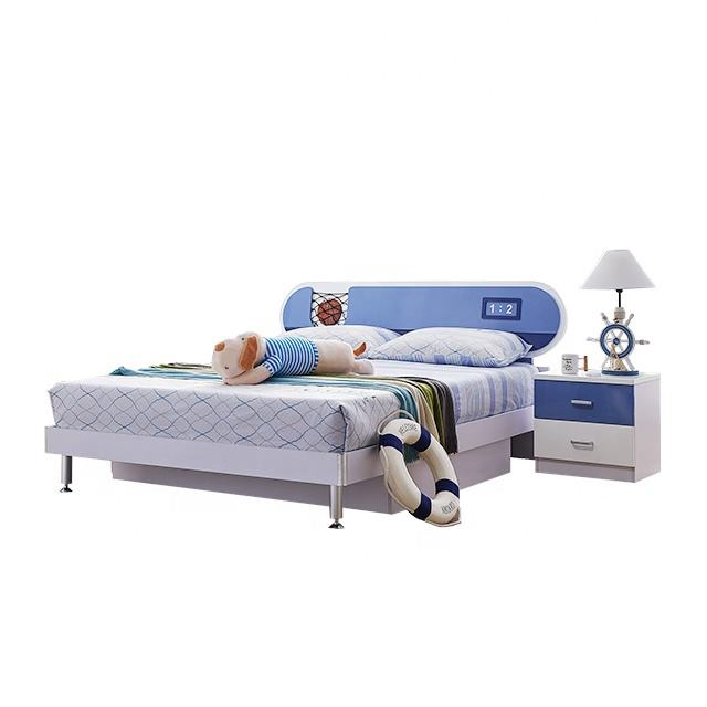 Modern hot selling children bed kids bedroom sets blue color for boy in Foshan