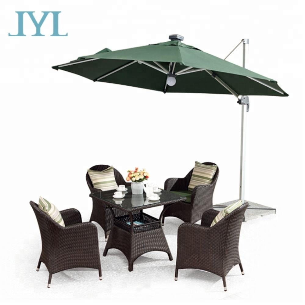 Fashion synthetic wicker outdoor rattan patio furniture for cafe garden