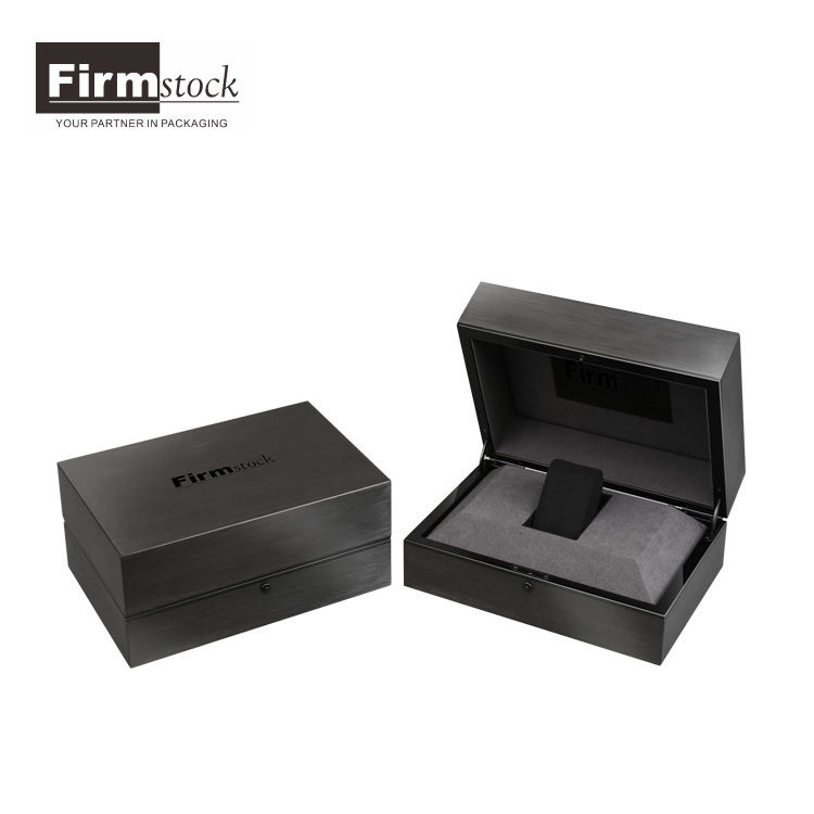 Deluxe hand made wooden watch box with stainless steel finish for luxury watch display storage gift box