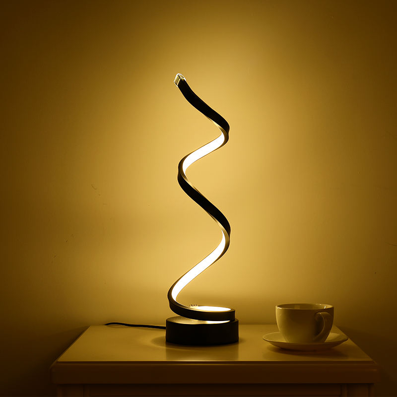 Creative personality rotating strip LED table lamp for reading light creative LED desk lamp fancy led table lamp