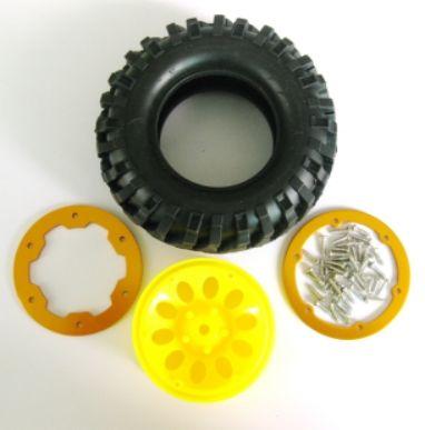 "4PCS RC 1//10 Model Car Climbing Rock Crawler Rubber 96mm 1.9/"" Tires Tyre 7006"
