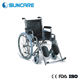 Manufactory direct price adjustable wheelchairs elderly folding chairs with wheels