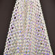 Popular Customized SS12 30*40 Size Shiny Elastic Stretch Crystal Rhinestone Fabric Net Mesh For Clothing Materials