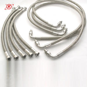 HY-003 Supply chemical factory ptfe stainless steel braided flexible metal hose