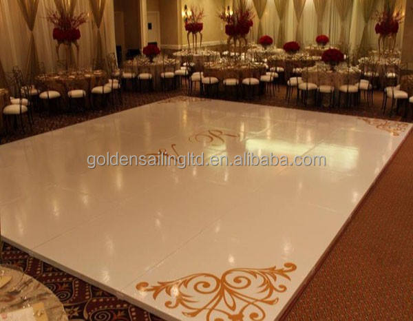 Cheap led dance floor white wedding dance floor for events