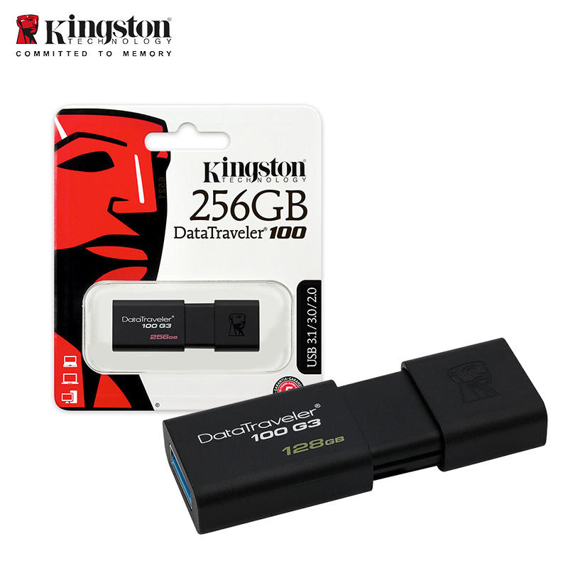 100% original Kingston Digital Data Traveler DT100G3/128GB USB3.0 USB Flash Drive