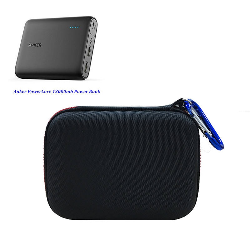EVA Hard protective case travel bag for Anker power core 13000mh and 10000mh power bank for Anker power core II 10000mh