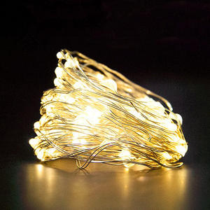Outdoor Solar Power Christmas Decoration Copper Wire Led String Light