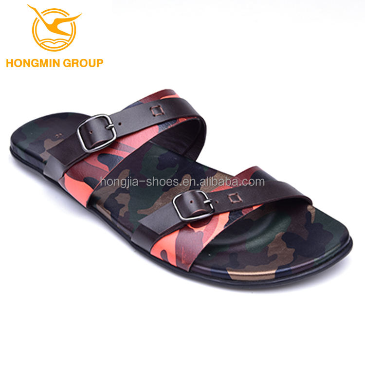 OEM branded rubber out sole mens leather summer shoes 2019 new model beach slippers and sandals for men