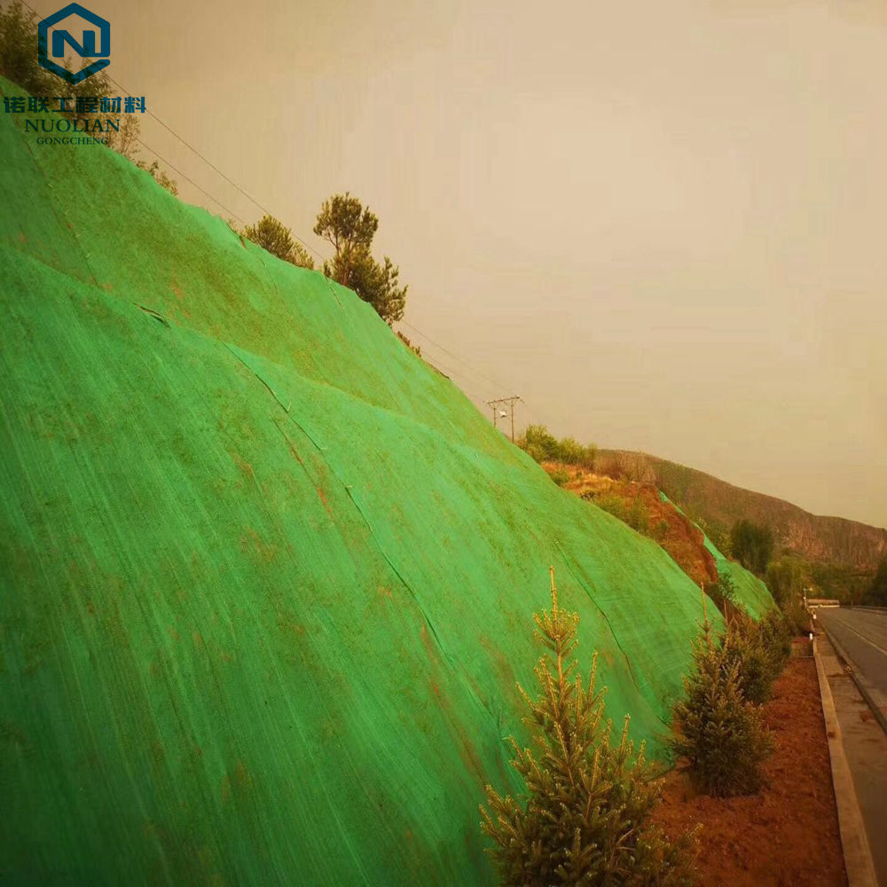 Biodegradable Green Color HDPE 3D Grass Mat to prevent sand and water loss and protect grasses