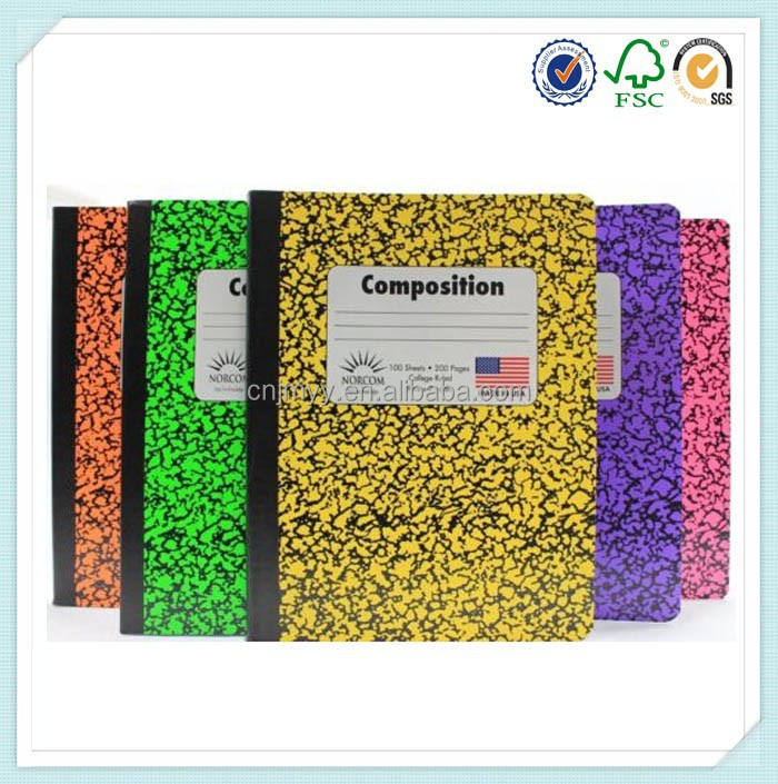 Composition Book College Ruled Notebook Assorted Colors Cover Note Books