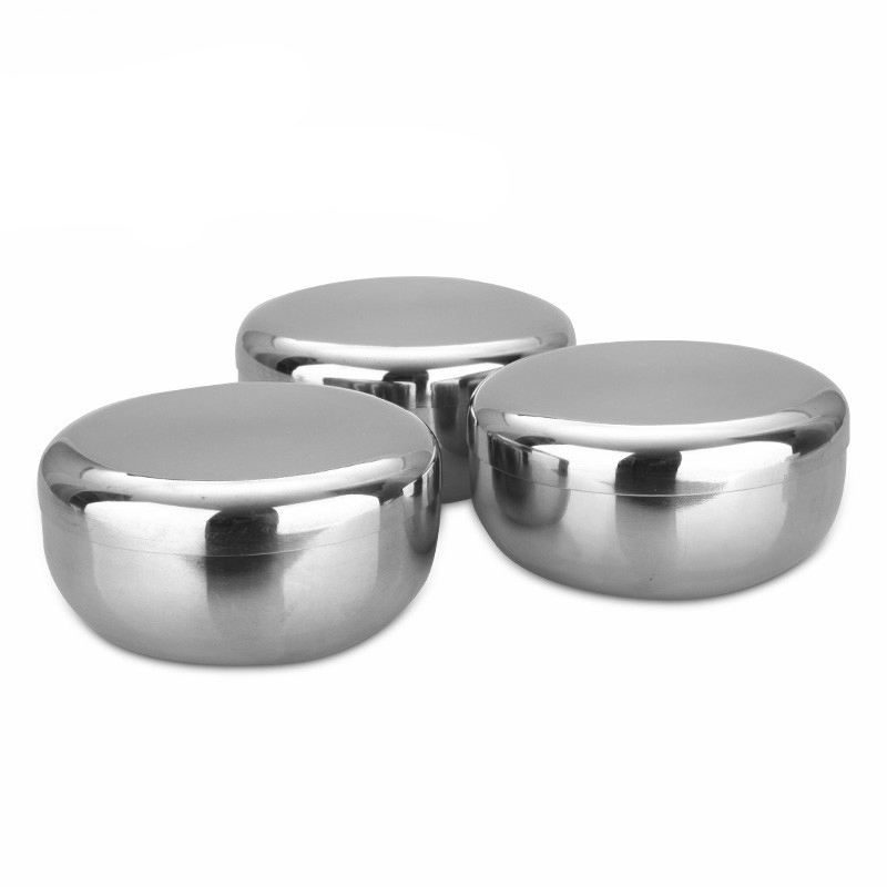 China manufacture 10/12cm Korean style Thicken pickle bowl stainless steel soup bowl rice bowl with lid