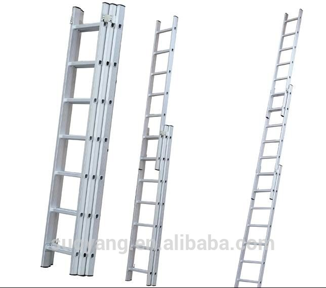 3-Section Step Aluminium Extension Ladder /Combination Ladders with EN131