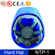 Industrial CE EN397 ANSI with Logo Safety Helmet 6 Points Ratchet Suspension and 4 Points Chin Strap Hard Hats
