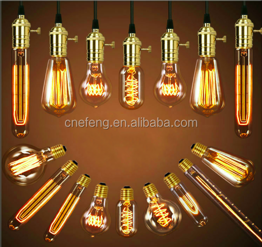 Vintage Straight Filament Edison Bulb ST64 led filament lamp