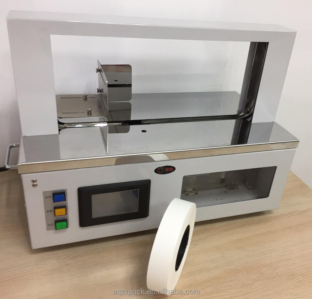 Safe convenient table top wrapping machine space design save