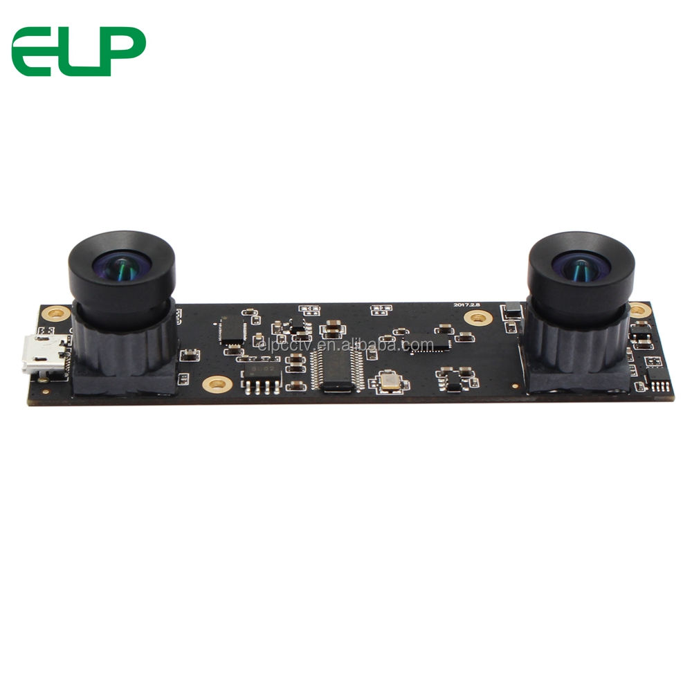 ELP 3D Stereo Camera 2Megapixels AR0330 1920x1080P mjpeg 30fps No Distortion Dual Lens Camera USB2.0 Module