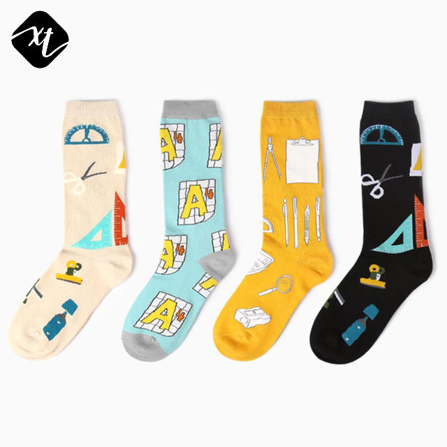Mathematics Calculator Geometry Combed Cotton Crew mens women ladies girls unisex dress socks