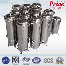 Large flow stainless steel cartridge water filter machine
