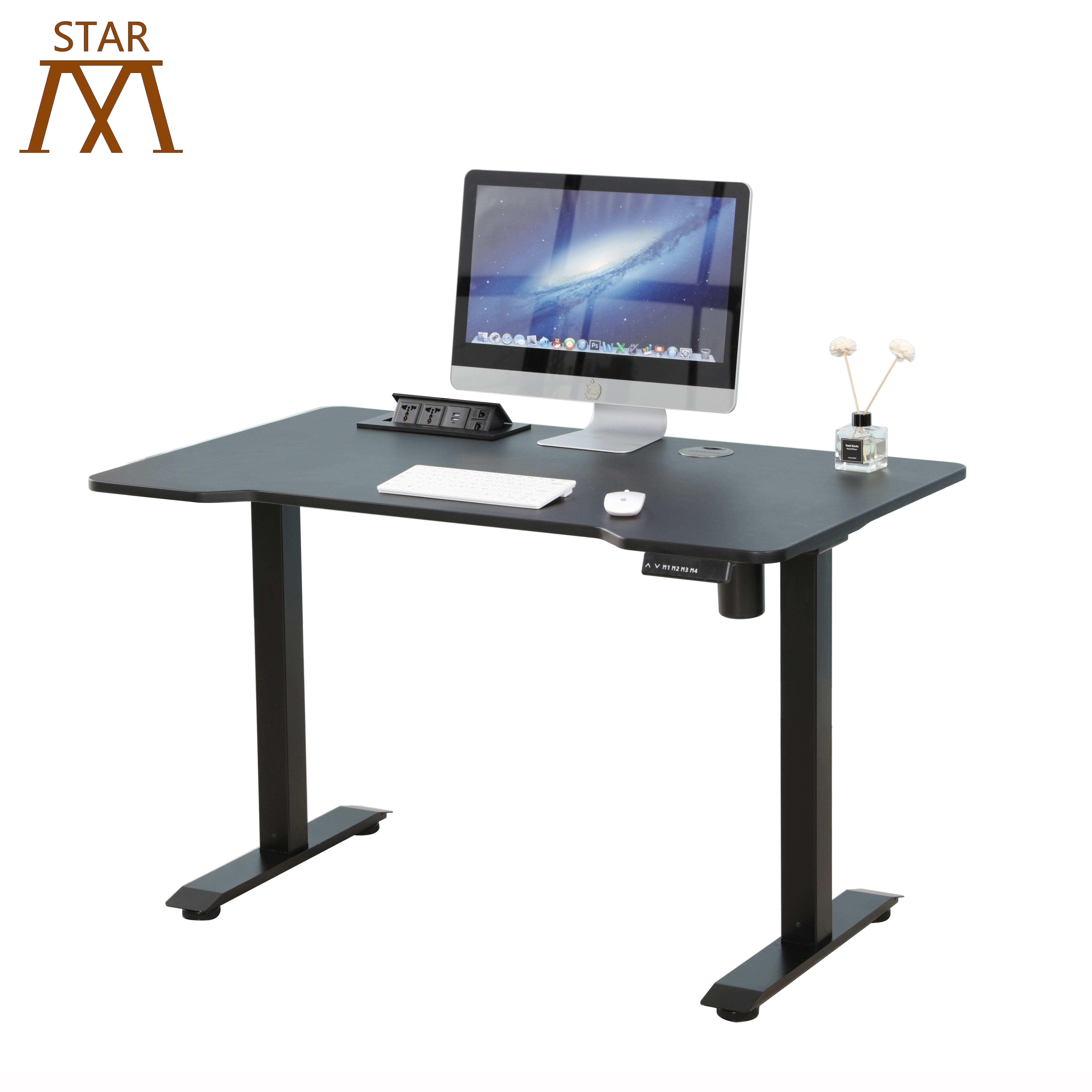 European Ergonomic Two Motors Electric Height Adjustable Sit To Stand Desk