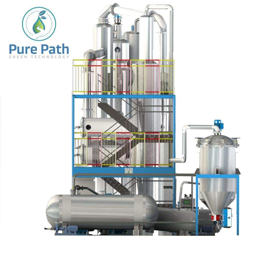CE certified vacuum system waste oil recycling to diesel distiller