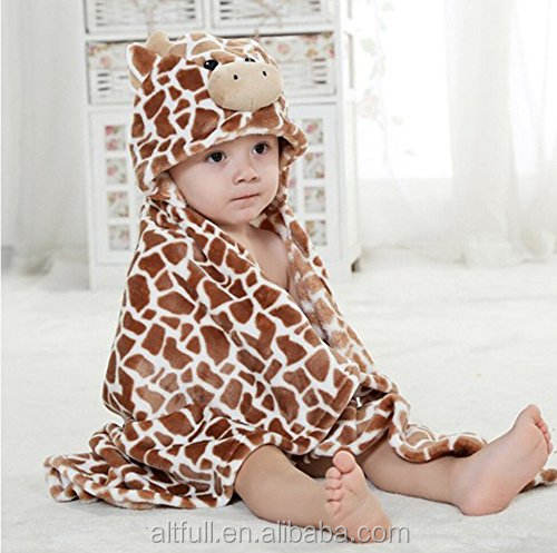 Direct buy china cute animal design baby hooded towel baby gift 100% soft cotton