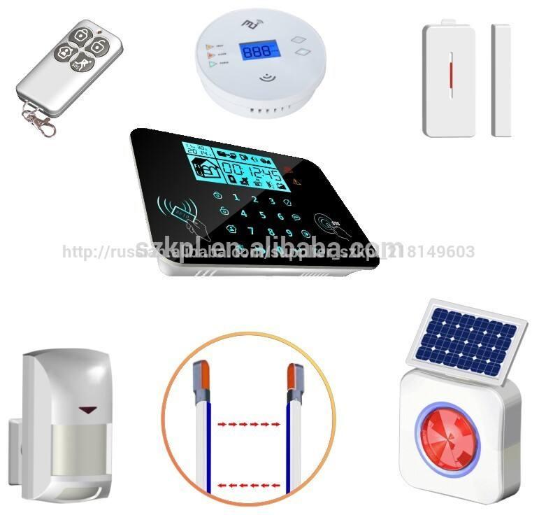 белый клавиатура сигнализации цифрового аудио визуальная сигнализация с внешней солнечной сирены