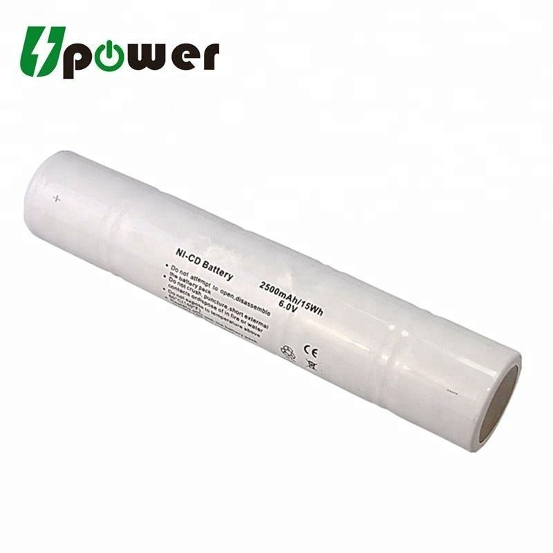 Battery Replacement for Streamlight Maglite ML5000 Flashlight Battery SDFL-C801 Gates GE//Ericsson Maglite Batteries 5 1//2 D Stick Ni-CD 6V 2500mAh