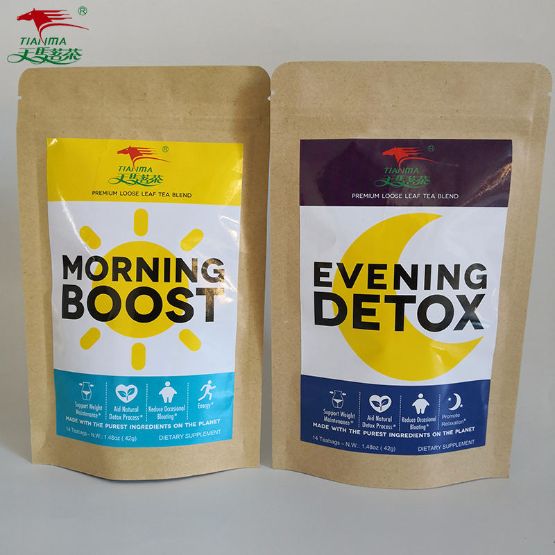 Factory in China Morning Boost Tea Or Evening Detox Tea, Herbal Teatox