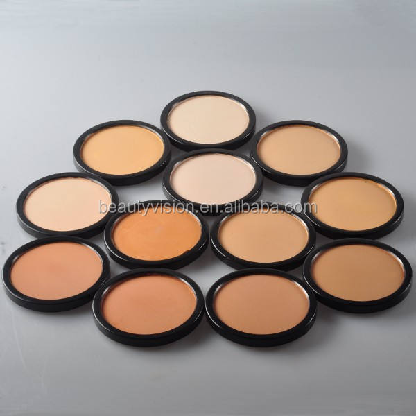 custom makeup single color mineral pressed powder compact powder